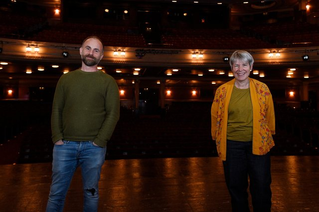 Laurie Sansom and Rona Munro will be reuniting for a new instalment of The James Plays. Picture: Greg Macvean