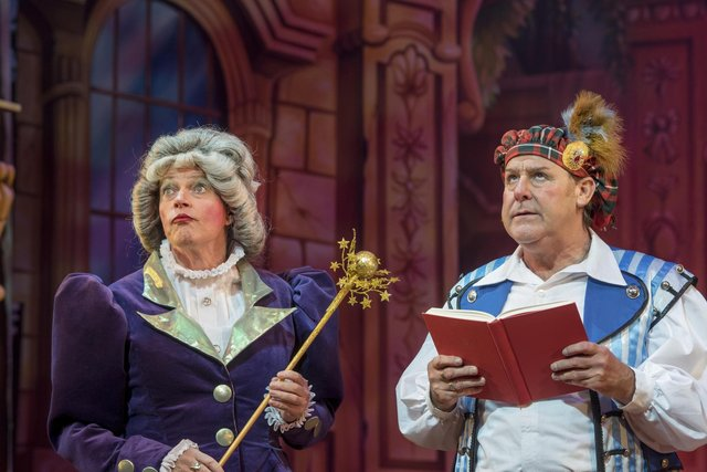 Allan Stewart as Fairy May and Andy Gray as Buttons in Cinderella