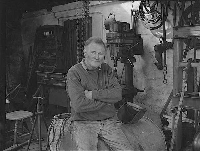 The late Calum 'Steallag' MacLeod pictured in his Stornoway smithy. PIC: BBCAlba.