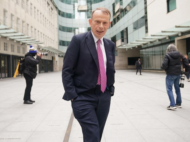 Andrew Marr outside BBC Broadcasting House in central London. Picture: Yui Mok/PA Wire