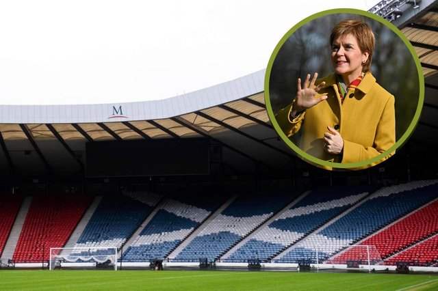 Nicola Sturgeon 'delighted' fans can return to Hampden Park.
