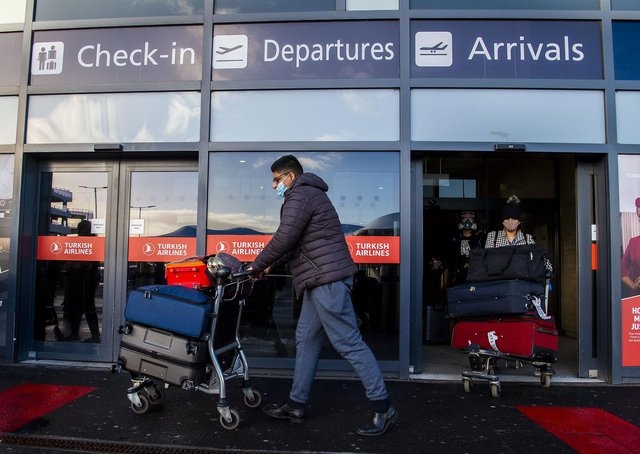 From tomorrow all international arrivals at Scottish airports will have to go to quarantine hotels.