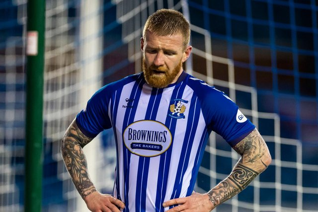 Kilmarnock's Alan Power shows his frustration during the 3-3 draw with St Mirren.  (Photo by Roddy Scott / SNS Group)
