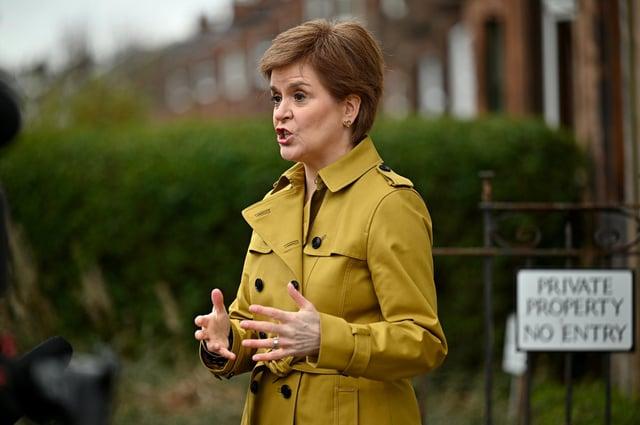 Nicola Sturgeon on the election campaign trail.