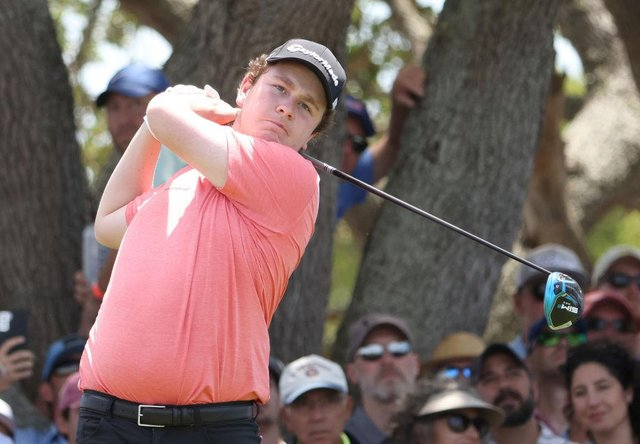Bob MacIntyre in action during the US PGA Championship at Kiawah Island. Picture: Jamie Squire/Getty Images.