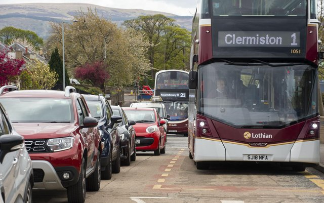 Scotland is looking at whether to introduce powers for councils to charge workplaces for every car parking space it has for staff, with the fee to be passed on to workers and visitors, in a bold attempt to drive down traffic levels. PIC: Lisa Ferguson.