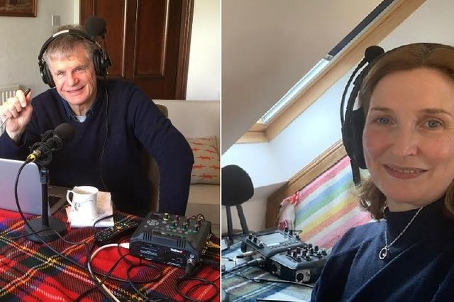 The BBC's  Drivetime host John Beatty and Laura Maxwell on Good Morning Scotland adapt to working  from  home