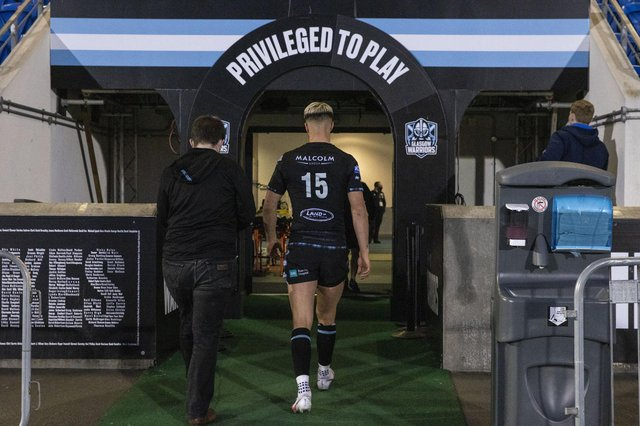 Adam Hastings leaves the pitch at Scotstoun after his final home game for the Glasgow Warriors, against Leinster.  Photo: Craig Williamson / SNS