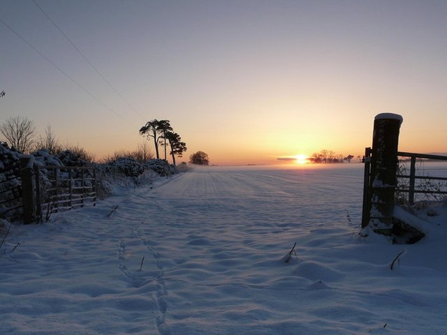Sunset on Winter Solstice at Rhynie in Aberdeenshire. PIC: Sylvia Duckworth/geograph.org