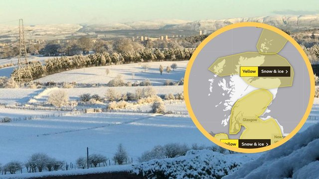The Met Office has issued a yellow warning of snow and ice which will commence tonight and last until late at night on Wednesday across certain parts of Scotland (Photo: Met Office/ Melanie Scott)
