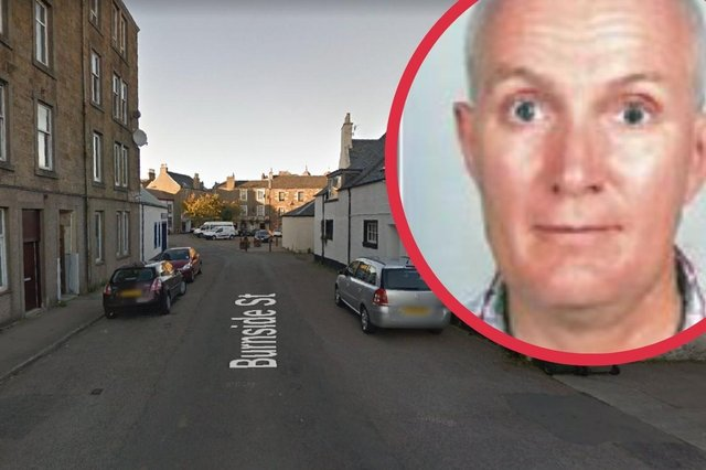 Neil Scott, 58, was reported missing from Burnside Street on Thursday July, 8 (Photo: Google Maps and Police Scotland).