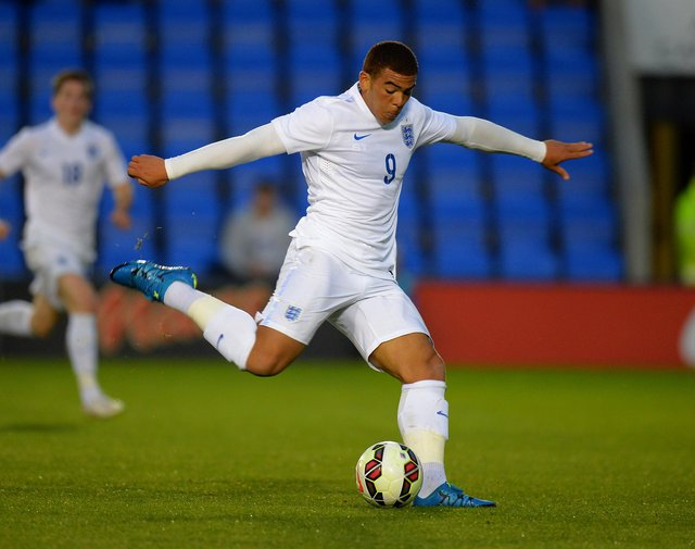 Che Adams playing for England Under-20s against Czech Republic in 2015 (Photo by Tony Marshall/Getty Images)