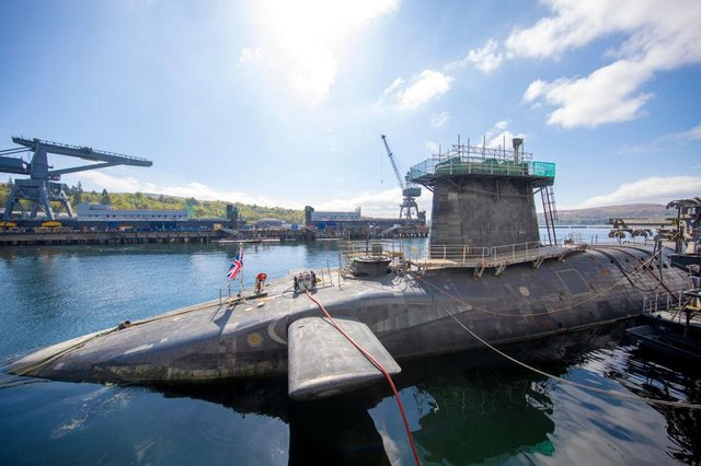 Faslane in Scotland is home to the UK's nuclear deterrent Trident (Getty Images)