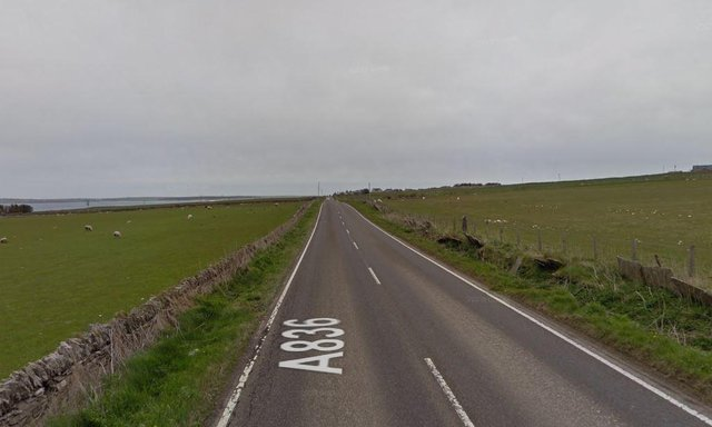 A836: A motorcyclist died in a crash near Edderton, Tain yesterday.