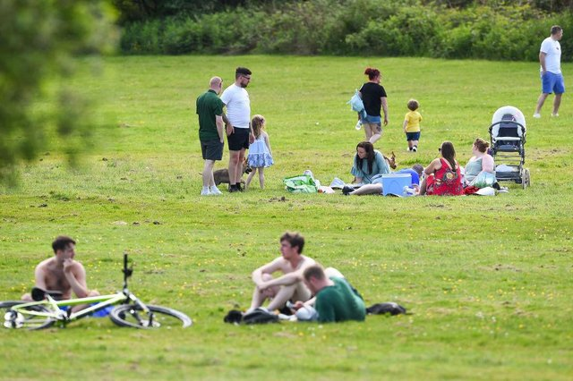 Four people from two households will be able to meet up outdoors in private or public spaces, with up to 15 for organised sports (Picture:Jeff J Mitchell/Getty Images)