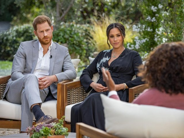 Meghan and Harry drop bombshell upon bombshell in their interview with Oprah Winfrey (Picture: Harpo Productions/Joe Pugliese via Getty Images)