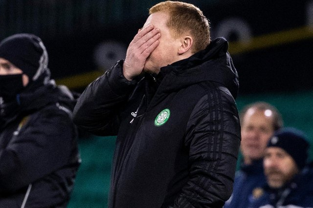 Neil Lennon can't look as Celtic come up short yet again with the 1-1 draw against St Johnstone (Photo by Alan Harvey / SNS Group)
