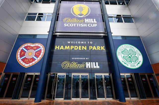 Hearts and Celtic are contesting the Scottish Cup final at Hampden Park.