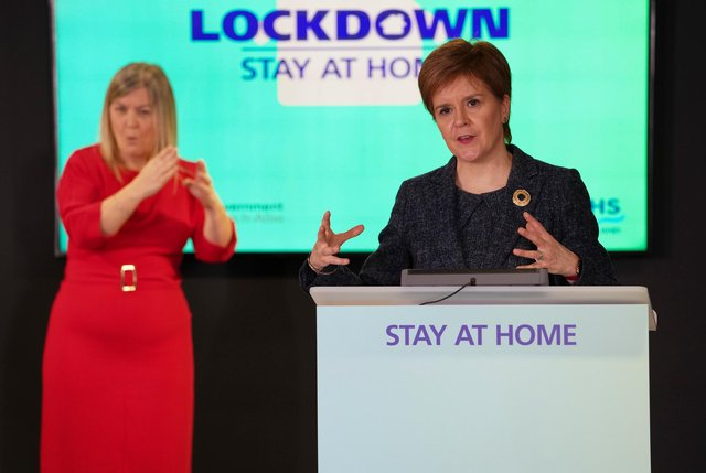 """Nicola Sturgeon said it was not """"fair"""" for her government to be unable to publish the statistics while the UK Government brief them to the press."""