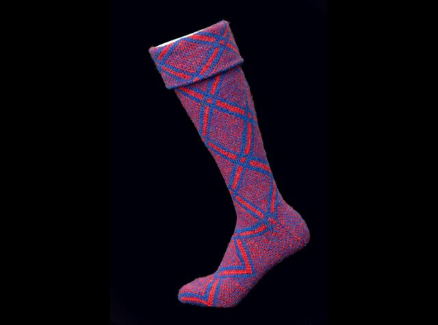 Gairloch kilt socks were made by tenants after their lairds set up work schemes in the face of the 1840s potato famine. PIC: Jim Dunn/Gairloch Museum.