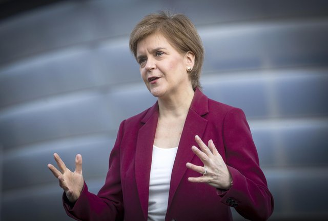 First Minister Nicola Sturgeon today unveiled her party's plan for the next 100 days. Picture: PA