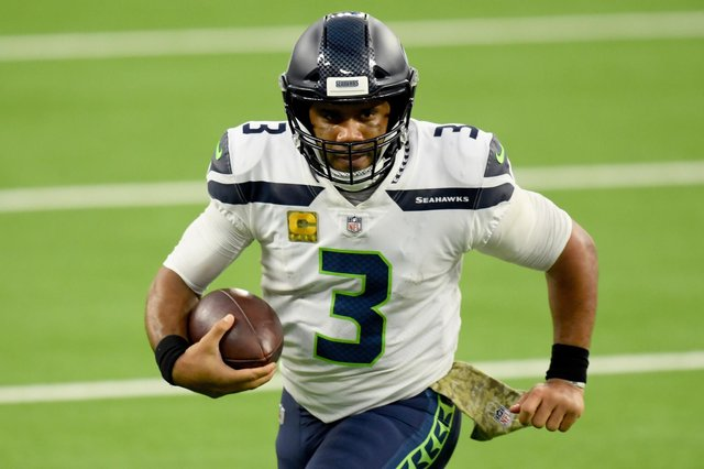 Seattle Seahawks quarterback Russell Wilson looks set to leave. Picture: Harry How/Getty Images
