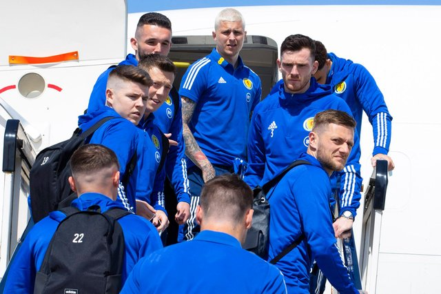 The Scotland squad departs for Spain for a training camp ahead of the delayed Euro 2020 tournament (Picture: Alan Harvey / SNS Group)