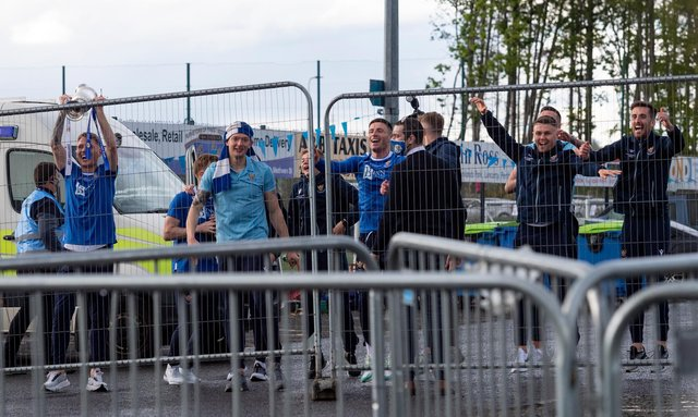 St Johnstone's players celebrate winning the Scottish Cup back in May.