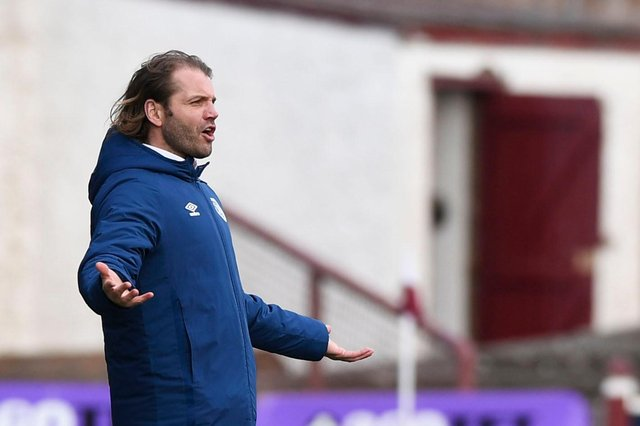 Hearts manager Robbie Neilson was frustrated at Arbroath.