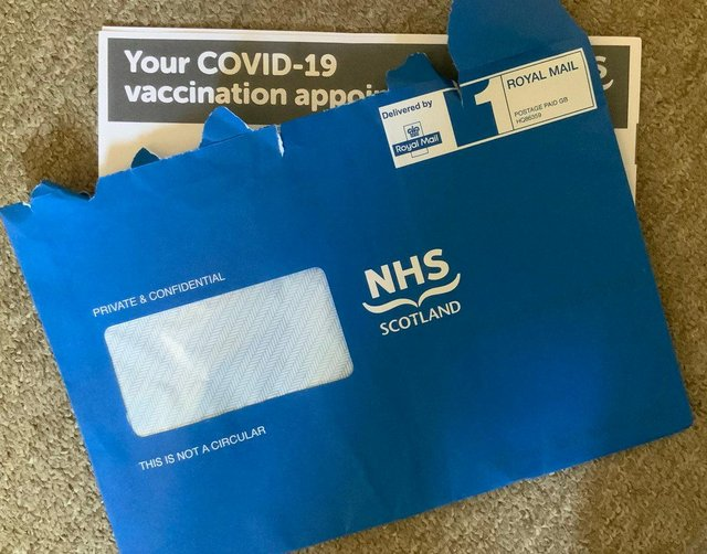 Scottish Government apologises for 'issue' causing delay to vaccine appointment letters.