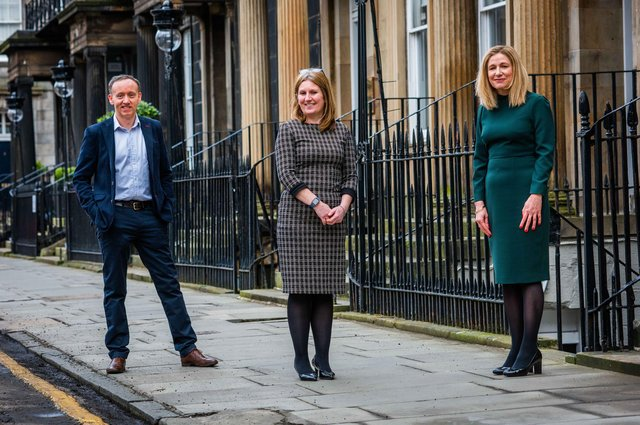 Martin Campbell, Carole Tomlinson and Alison Pryde of Anderson Strathern. Picture: Chris Watt