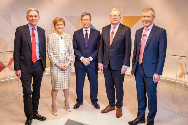 The TV debates in 2021 will take place with a much-changed roster of party leaders to this photo in 2019.