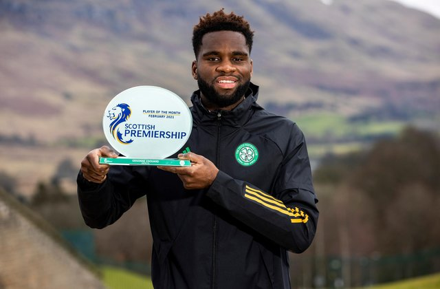 Odsonne Edouard shows off his player of the month award