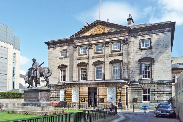 The Royal Bank of Scotland's historic headquarters, Dundas House, on St Andrew Square.