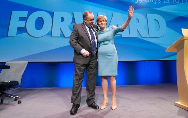 First Minister Nicola Sturgeon when she was deputy to Alex Salmond.