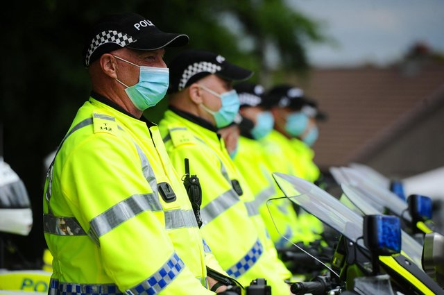 Police Scotland officers have been coughed at and spat on by people trying to spread Covid.