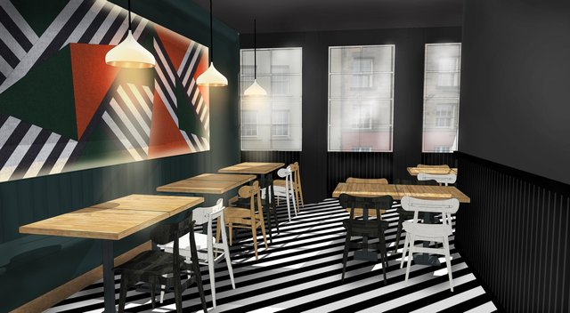 The new site is split over three floors and will be an addition to @pizza's restaurant in Edinburgh's West End