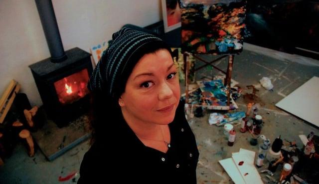Beth Robertson Fiddes in her studio