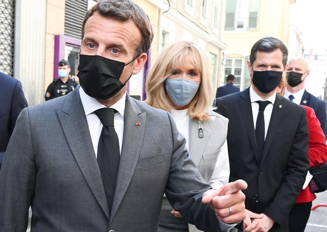 Emmanuel Macron: French President slapped in the face during visit to town