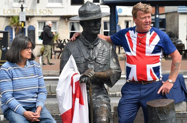 Some locals are fiercely protective of Robert Baden-Powell's statue (Getty Images0