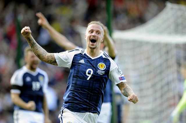 2018 FIFA World Cup Russia Qualifier. Scotland v England. Second goal for Scotland, Leigh Griffiths 9 direct from a freekick.