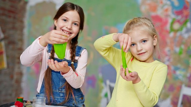 Making slime touches upon the basics of chemistry and uses ingredients you may have in your home
