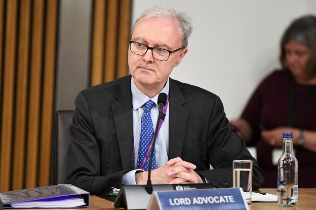 Lord Advocate James Wolffe giving evidence to the Scottish Parliament committee examining the handling of harassment allegations against former first minister Alex Salmond. (Photo by Jeff J Mitchell/Getty Images)