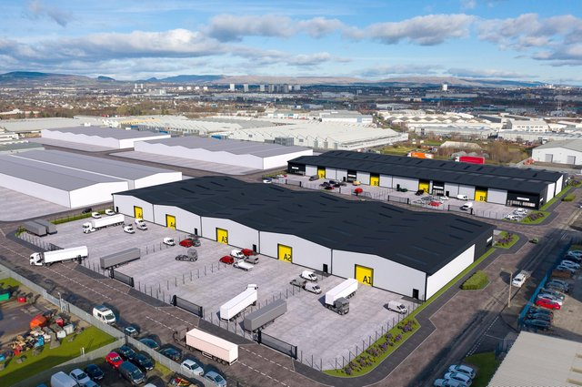 The project will be the largest speculative new build industrial development at Hillington Park on the outskirts of Glasgow in more than 25 years. Picture: McAteer Photography