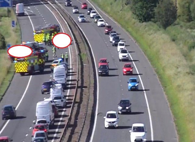 Part of M8 has closed following a crash at J30 picture: Traffic Scotland