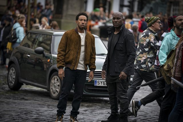 Chris 'Ludacris' Bridges and Tyrese Gibson in Fast & Furious 9.