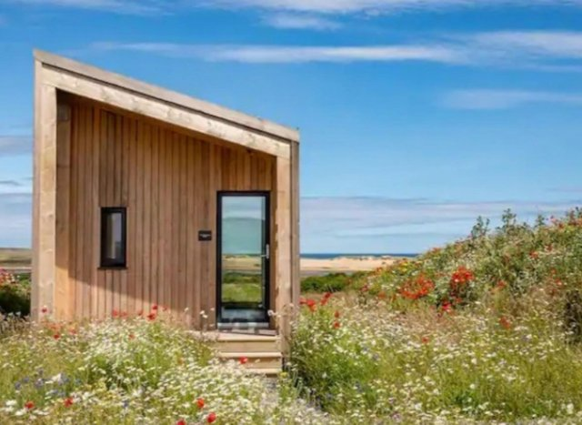 The Beekeeper's Bothy offers an amazing staycation overlooking a vast sandy Aberdeenshire beach.