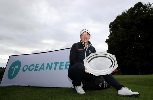 Heather McRae poses with the trophy following her victory in the WPGA Championship at Kedleston Park, near Derby. Picture: Jan Kruger/Getty Images