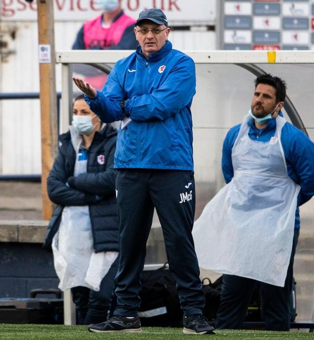 Raith Rovers manager John McGlynn.