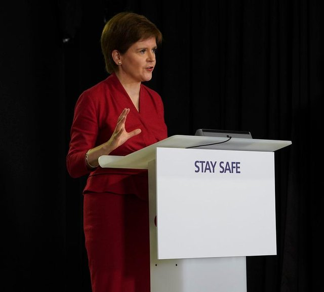 """Professor Hugh Pennington, of the University of Aberdeen, says Nicola Sturgeon's decision over the two-metre social distancing rule in Scotland is down to """"personality and politics"""""""